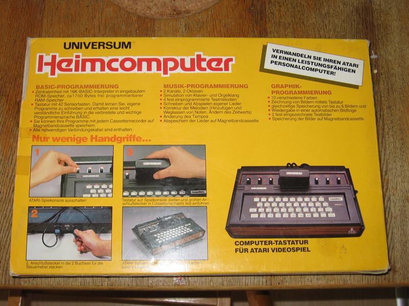 Originalkarton vom Compumate (Rückseite)