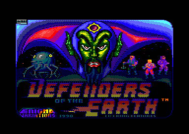 Loaderscreen von Defenders Of The Earth (CPC)