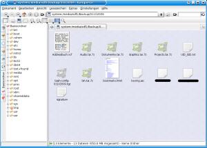 Beispielhaftes Backup vom 1.Oktober.2009 auf externer Festplatte