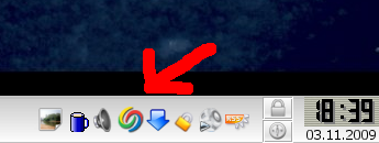 Google Desktop im KDE Icontray