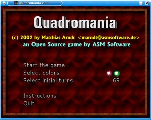 Quadromania v0.3 (GNU/Linux version)