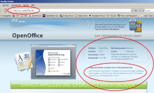OpenOffice Abzockewebseite
