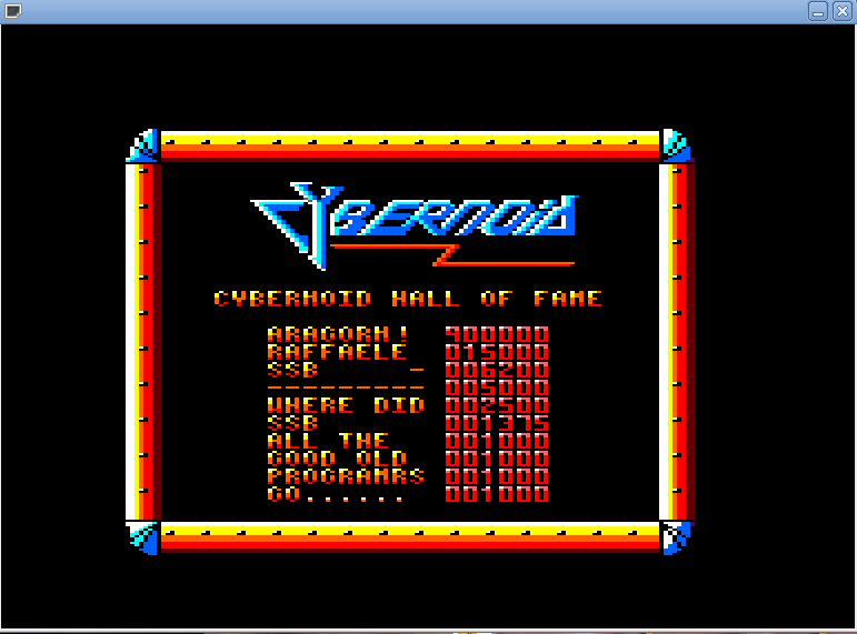 ssb's score of 6200 at Cybernoid (Amstrad CPC version)