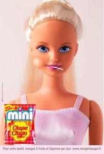 Barbie mit Lolli