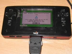 Hatari auf dem GP2X Wiz (erstes Mal der grüne Desktop)