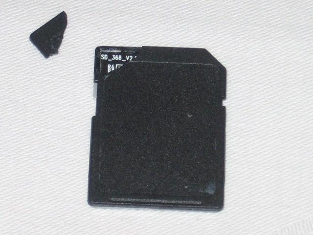 zerbröselte SD Karte
