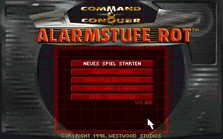 Command & Conquer: Alarmstufe Rot Hauptmenu (MSDOS)
