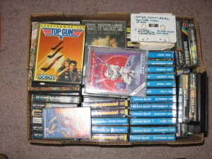 Karton B mit ZX Spectrum Tapes