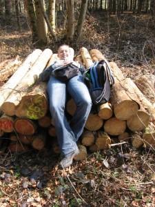 Janina auf unserer Wanderung am 25.03.2012