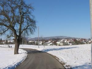 Blick über Schnetzenhausen zum Gehrenberg 10.02.2013
