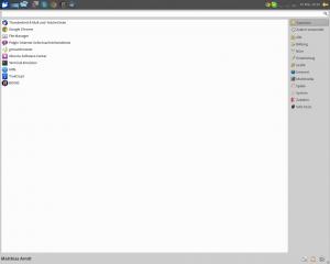 Xubuntu 14.04 (Startmenü aufgezoomt)