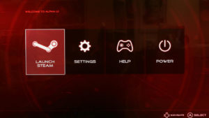 Original Alpha UI as shipped with the Alienware Alpha